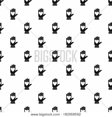 Hand with heart pattern seamless in simple style vector illustration