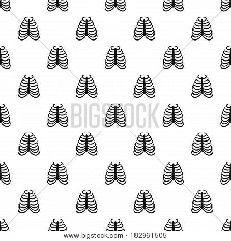 Rib cage pattern seamless in simple style vector illustration
