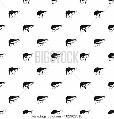 Liver pattern seamless in simple style vector illustration