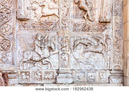 Outdoor Decoration Of Gate Of Basilica Di San Zeno