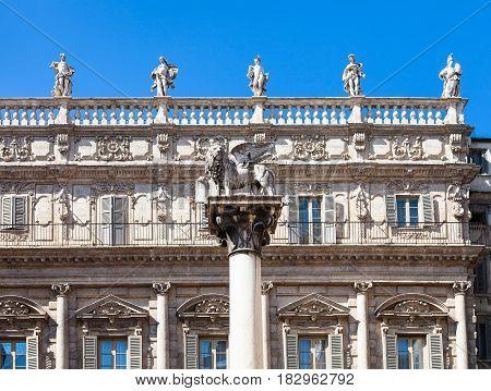 Palazzo Maffei On Piazza Delle Erbe In Verona