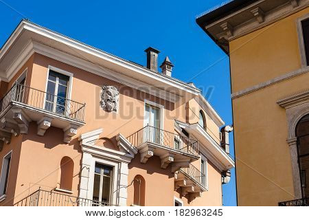 Decoration Of Urban House In Vicenza City