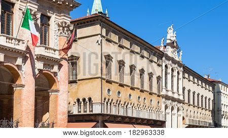 Facade Of Palaces On Piazza Dei Signori In Vicenza