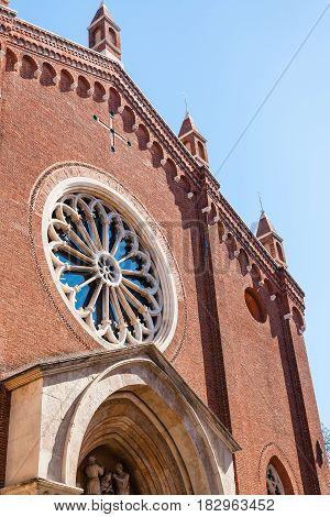 Facade Of Chiesa Di Santa Corona In Vicenza