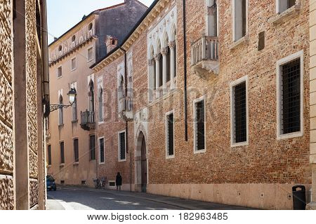 Medieval Palazzo On Street Contra Porti In Vicenza