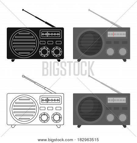 Radio advertising icon in cartoon style isolated on white background. Advertising symbol vector illustration.