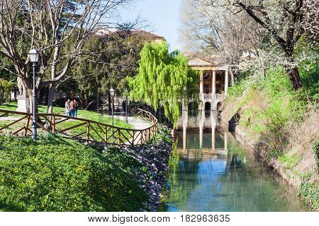 View Of Public Park Giardini Salvi In Vicenza
