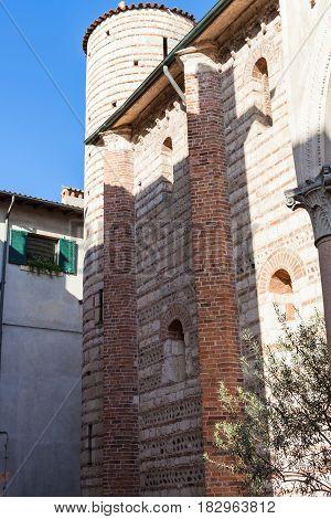 Wall And Tower Of Chiesa Di San Lorenzo In Verona