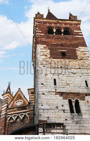 Tower Of Chiesa Di San Fermo Maggiore In Verona