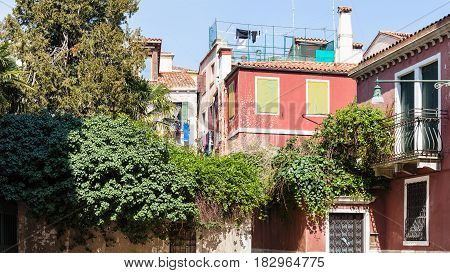 Residential Houses In Castello District In Venice