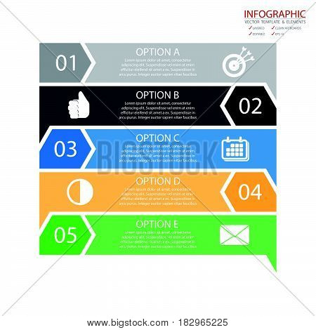 Vector arrows lines infographics set. Template for growth diagram graph presentation chart. Business successful startup concept with options parts steps processes. Data stairs.