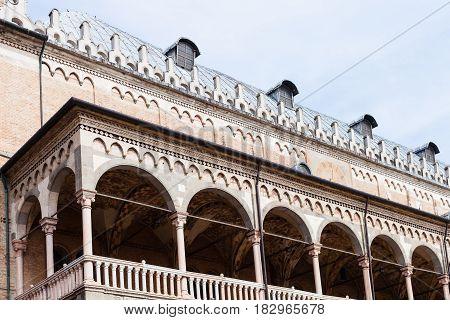 Loggia Of Palazzo Della Ragione In Padua City