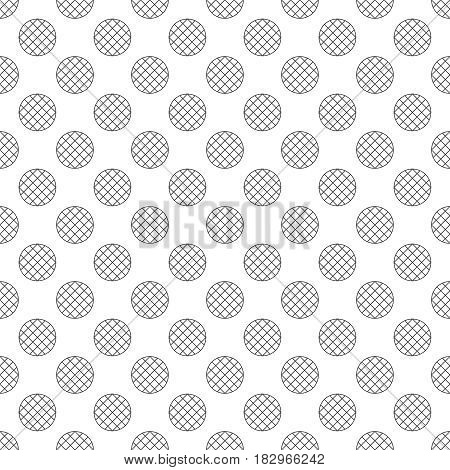Seamless pattern. Abstract wrapping paper surface. Simple stylish texture with regularly repeating geometrical shapes striped circles. Vector element of graphical design