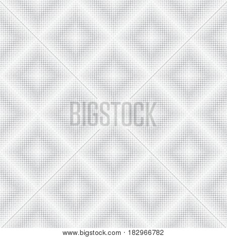 Vector seamless pattern. Infinitely repeating stylish modern texture consisting of small rhombuses with color decreasing on gradation which form geometrcial tiles with halftone effect.