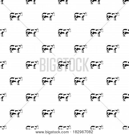 Cow pattern seamless in simple style vector illustration