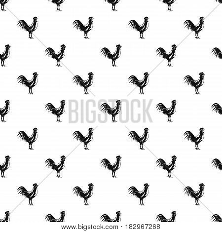 Gallic rooster pattern seamless in simple style vector illustration
