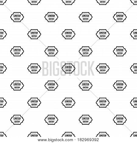 Limited edition pattern seamless in simple style vector illustration