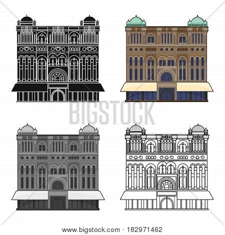 Queen Victoria Building icon in cartoon design isolated on white background. Australia symbol stock vector illustration.