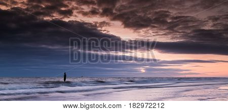 Fading Light On Crosby Beach