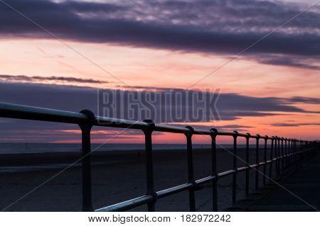 Railings Along Crosby Beach