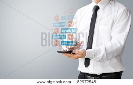 Fintech Concept, Pay Bill Online