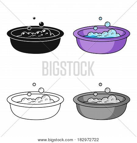Baby bath icon in cartoon style isolated on white background. Baby born symbol vector illustration.