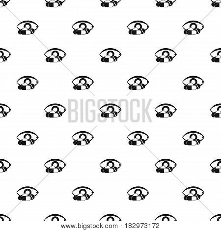 Treatment of the eye pattern seamless in simple style vector illustration