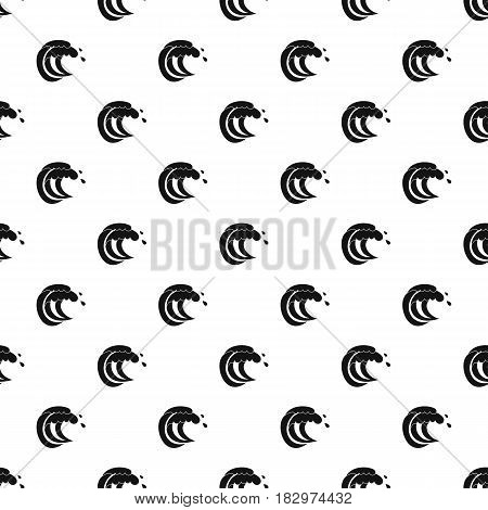 Wave of sea tide pattern seamless in simple style vector illustration