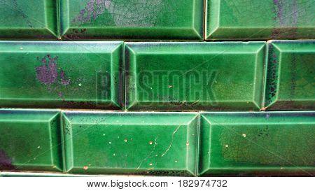 Green Grick Wall