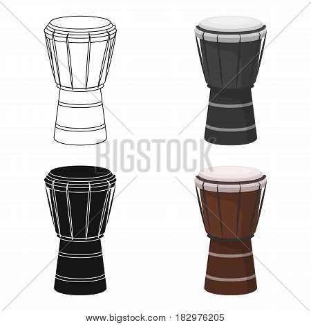 National brazilian drum icon in cartoon design isolated on white background. Brazil country symbol stock vector illustration.