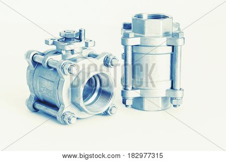 Group 2 valves ball valve with selective focus on thread fittings