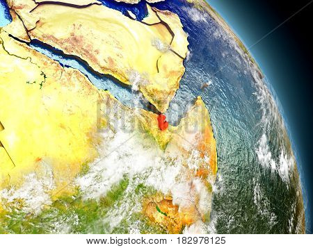 Djibouti From Space