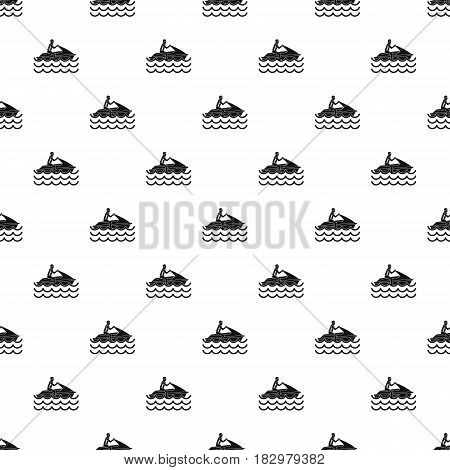 Man on jet ski rides pattern seamless in simple style vector illustration