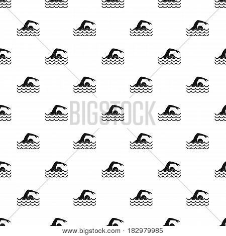 Swimmer pattern seamless in simple style vector illustration
