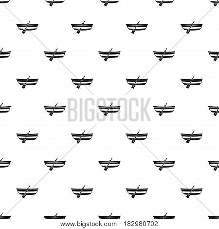 Fishing boat pattern seamless in simple style vector illustration
