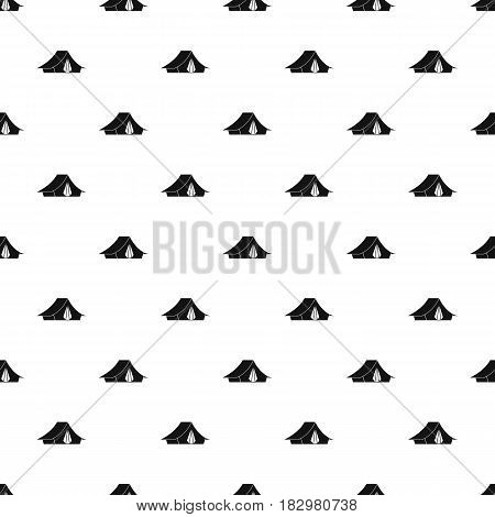 Camping tent pattern seamless in simple style vector illustration