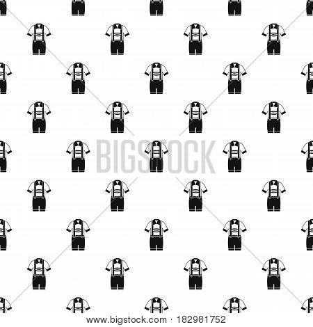 T-shirt and pants with suspenders pattern seamless in simple style vector illustration