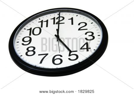 Office Wall Clock, Isolated