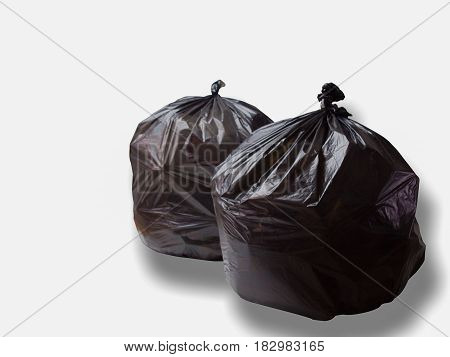 Keep garbage in bag for eliminate isolated on the white background. This has clipping path. (with free space for text)