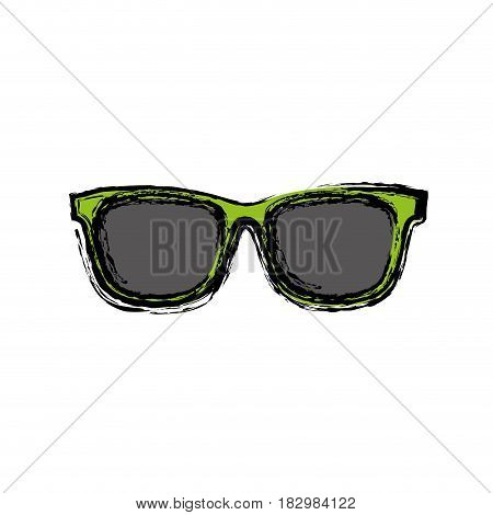 sunglasses icon over white background. colorful design. vector illustration