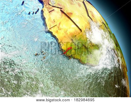 Gambia From Space