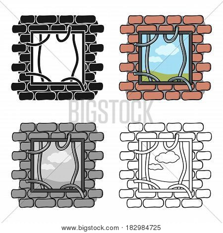 Prison escape icon in cartoon style isolated on white background. Crime symbol vector illustration.