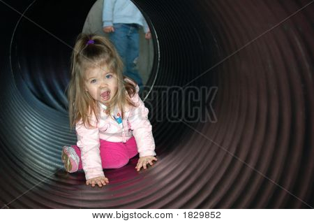 Playing In The Tunnel