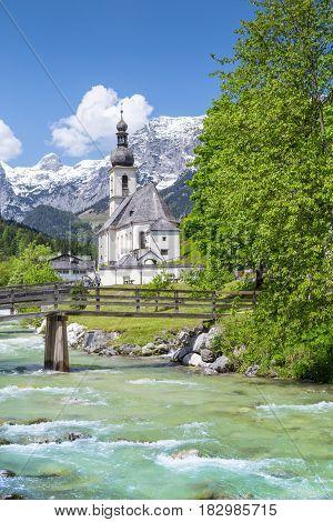 Church Of Ramsau, Nationalpark Berchtesgadener Land, Bavaria Germany