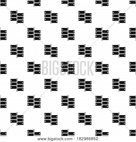 Infographic blocks on signpost pattern seamless in simple style vector illustration