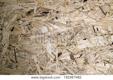 Recycled Compressed Wood Chipboard. Pressed Wooden Panel (osb).