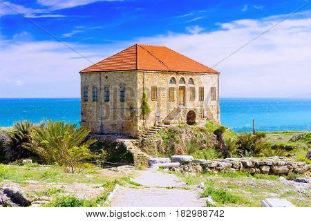 Old House Of Shellfish In Byblos, Lebanon
