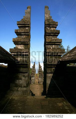 Cetho (Ceto)  is one of several temples built on the northwest slopes of Mount Lawu in the fifteenth century.