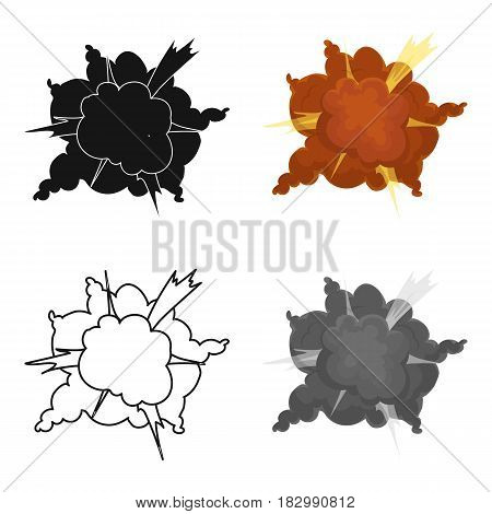 Explosion icon in cartoon design isolated on white background. Explosions symbol stock vector illustration.
