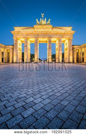 Brandenburg Gate In Twilight, Berlin, Germany